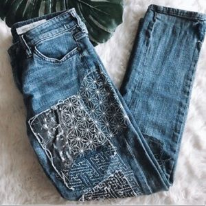 ✨Pilcro and the Letterpress embroidered jeans✨